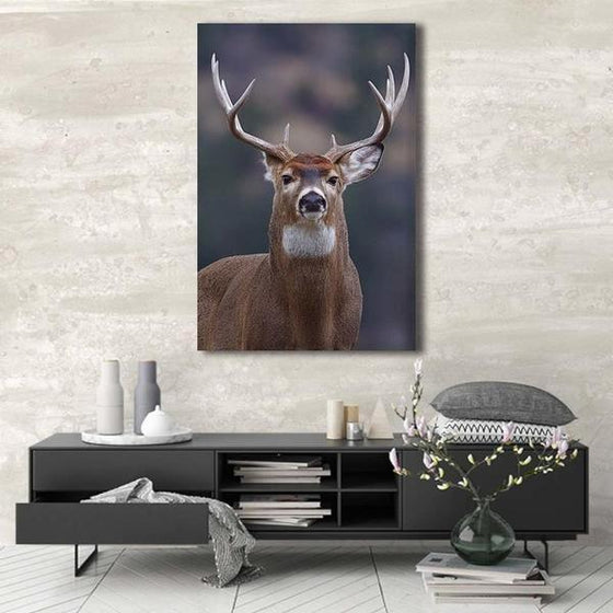 Proud Wild Deer Canvas Wall Art Decor