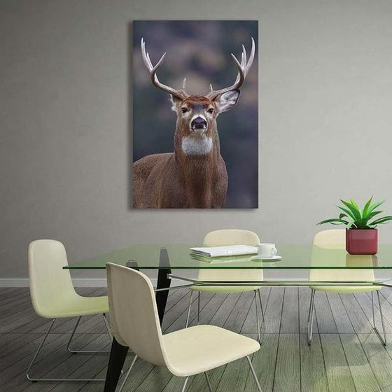 Proud Wild Deer Canvas Wall Art Living Room