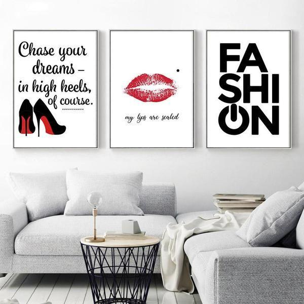 Stylish Motivating Quote Canvas Wall Art Canvasxnet Stunning Quotes Wall Art