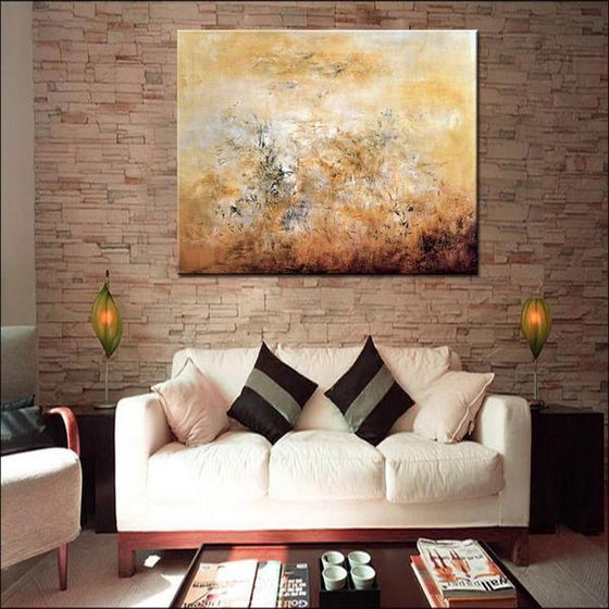 Printed Hand Painted Canvas Wall Décor Square
