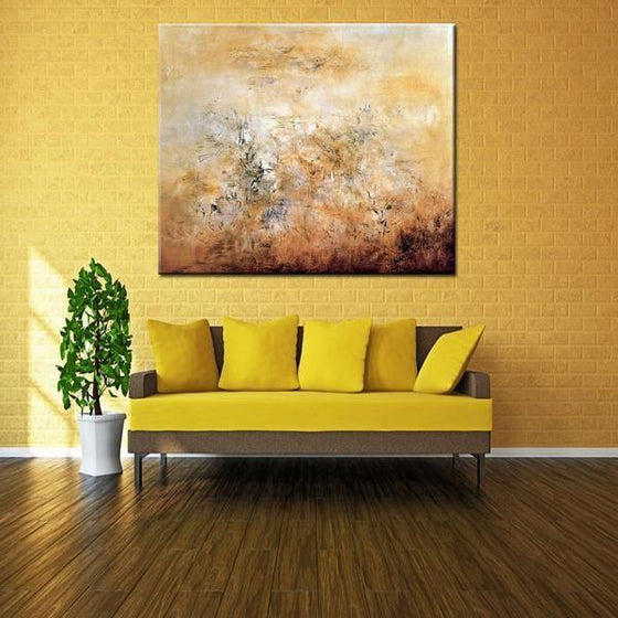 Printed Hand Painted Canvas Wall Prints Square