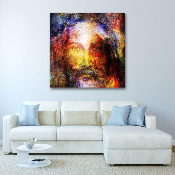Psychedelic Image Of Jesus Canvas Wall Art Prints Canvasx Net