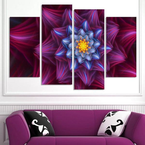 Charming Purple Flower Canvas Wall Art
