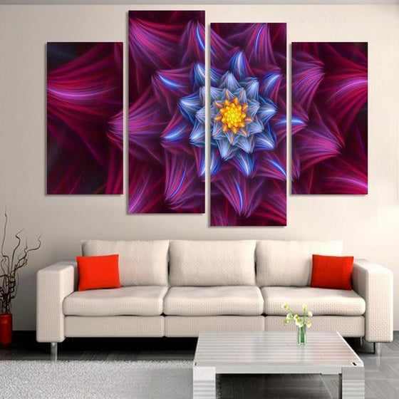 Charming Purple Flower Canvas Wall Art Living Room