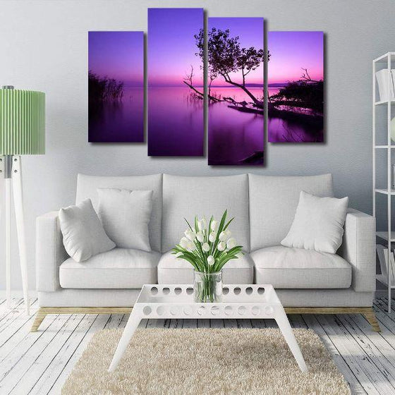 Purple Serene Sunset Canvas Wall Art Decor