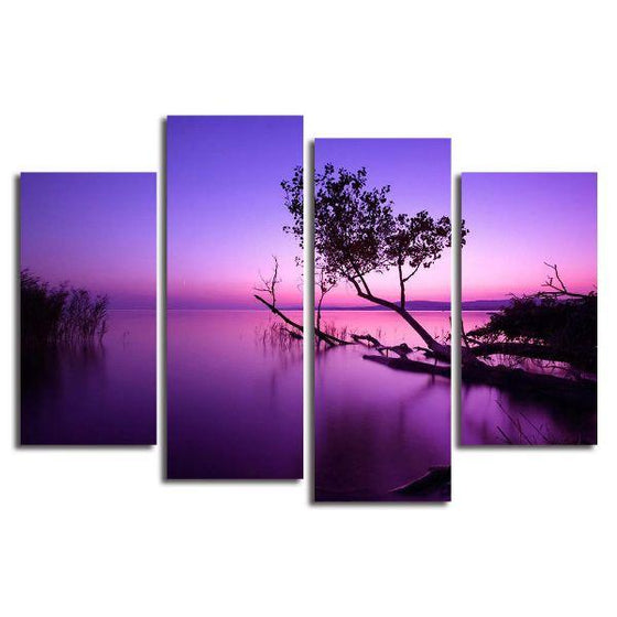 Purple Serene Sunset Canvas Wall Art
