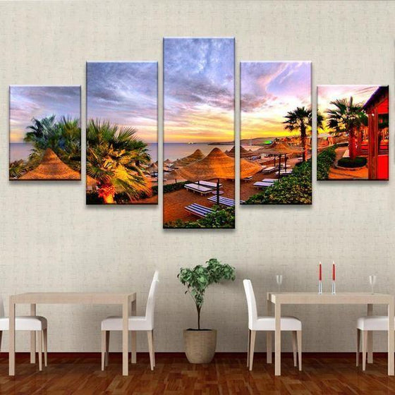 Beach Side Resort Canvas Wall Art Restaurant