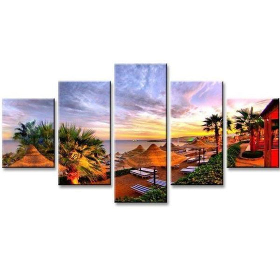 Beach Side Resort Canvas Wall Art