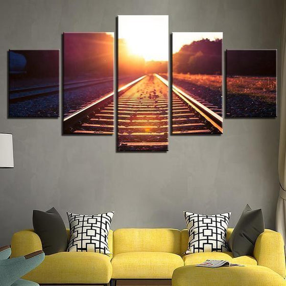 Railway Track Canvas Wall Art Living Room