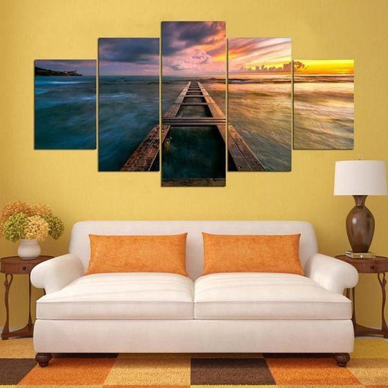 Purple Sunset Wall Art Decors