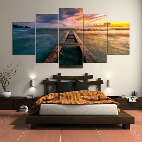 Purple Sunset Wall Art Idea