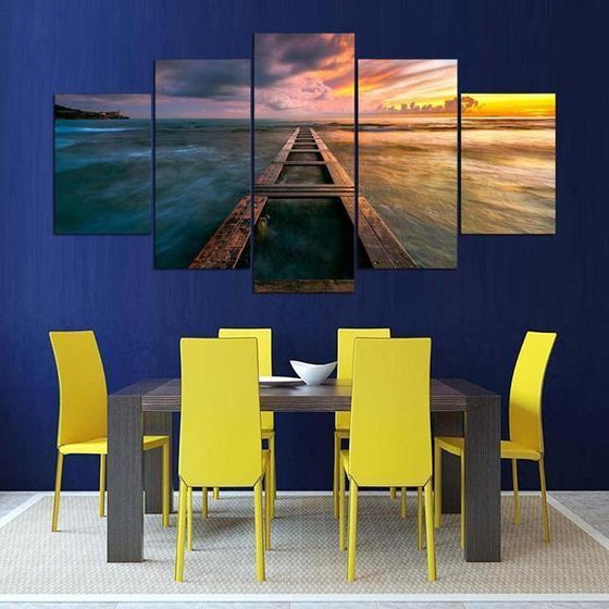 Purple Sunset Wall Art Ideas