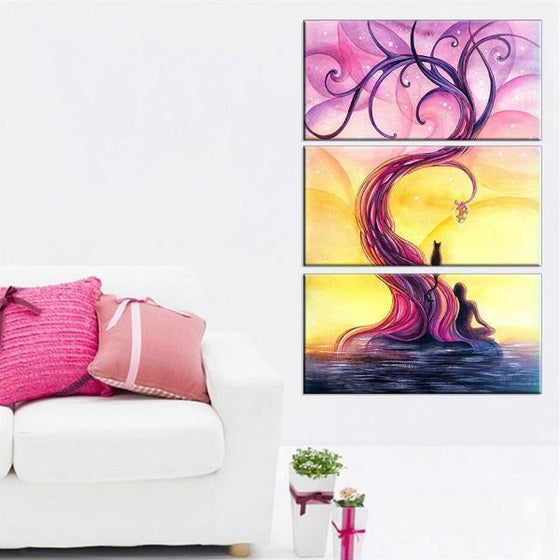Purple Tree Wall Art Canvas