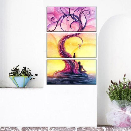 Purple Tree Wall Art