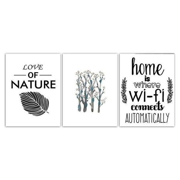 Modern Love Of Nature Quote Canvas Wall Art