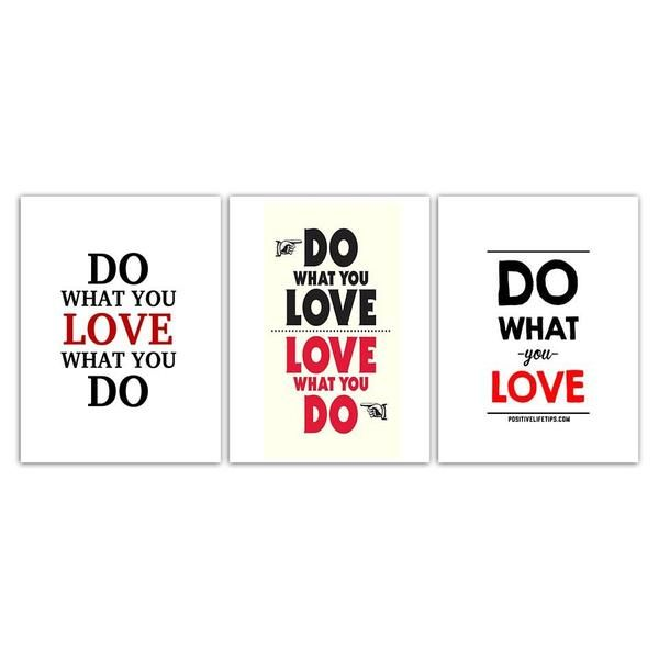 Classic Do What You Love Quote Canvas Wall Art Canvasxnet Extraordinary Canvas Love Quotes