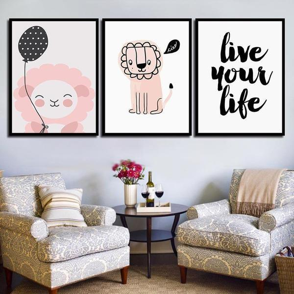 Adorable Live Your Life Quote Canvas Wall Art — canvasx.net