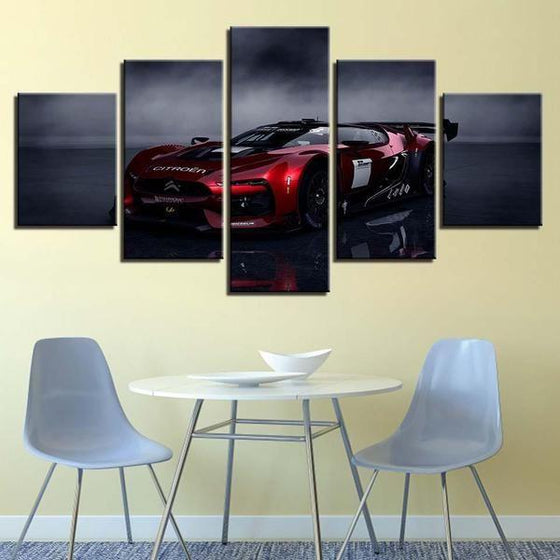 Red Citroen GT Canvas Wall Art Dining Room
