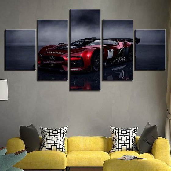 Red Citroen GT Canvas Wall Art