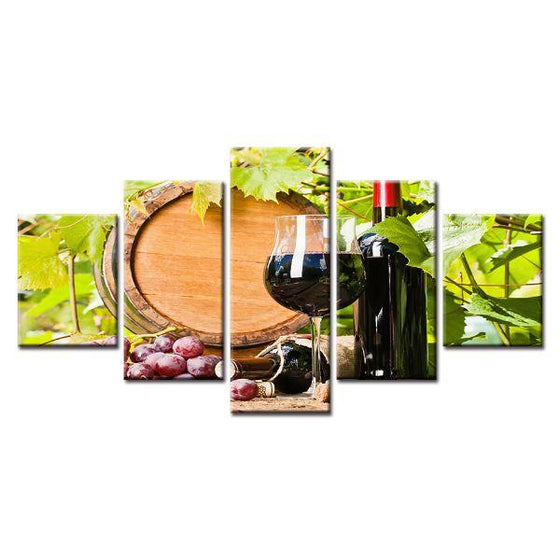 Red Grape Wine Canvas Wall Art Ideas