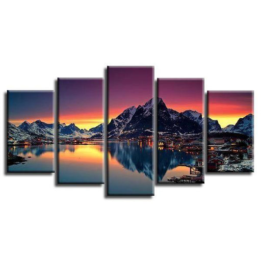 Reine Lake Norway Canvas Wall Art