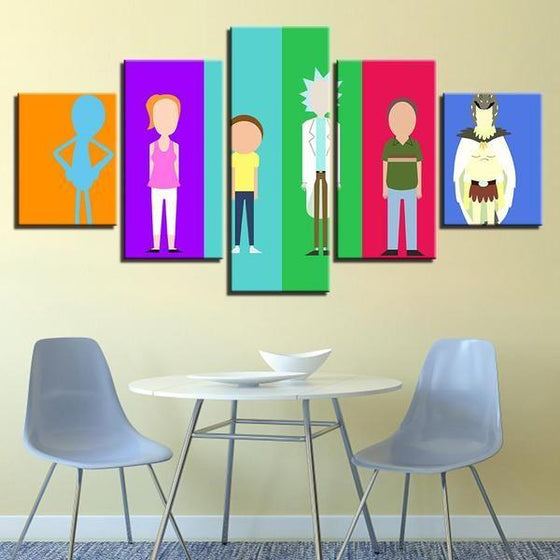 Rick & Morty Wall Art Dining Room Idea