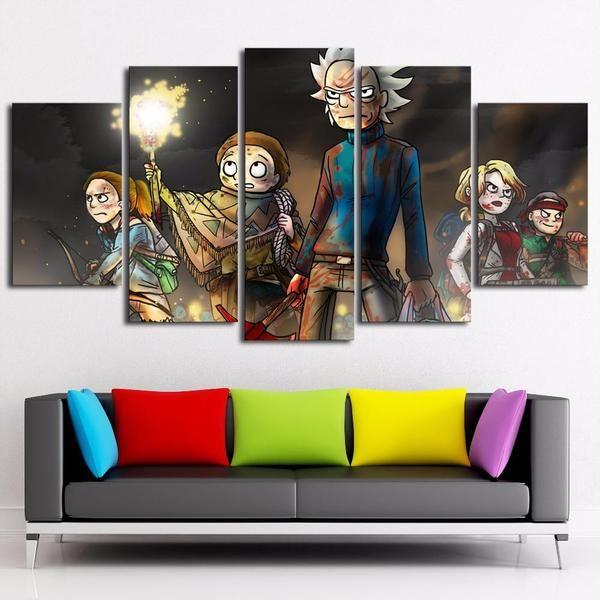 rick morty inspired 37 canvas wall art
