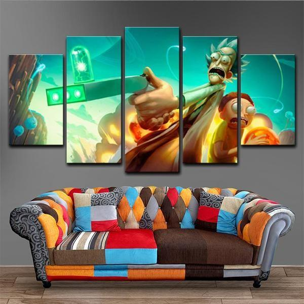 Rick & Morty Wall Art Large Decor