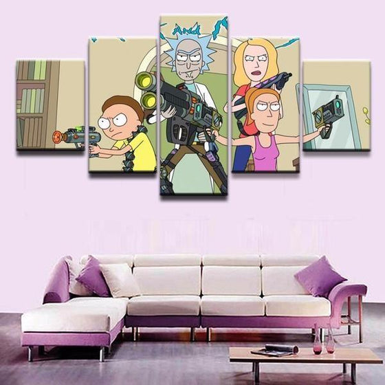 Rick & Morty Wall Art Large Print