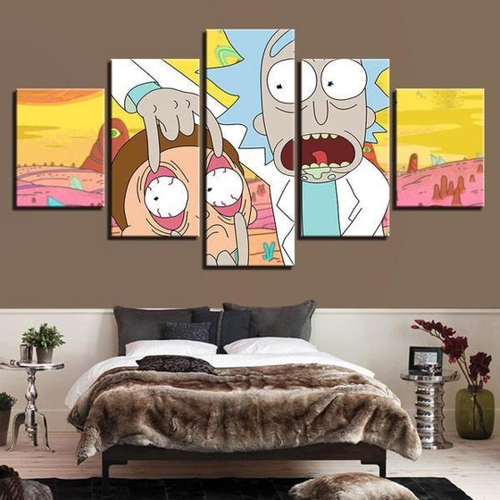Rick & Morty Wall Art Modern Canvas