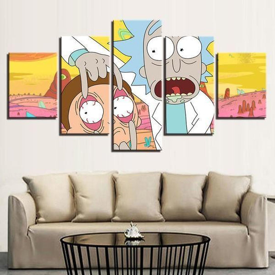 Rick & Morty Wall Art Modern Canvases