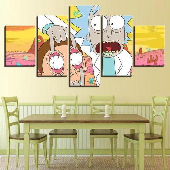 Rick & Morty Wall Art Modern