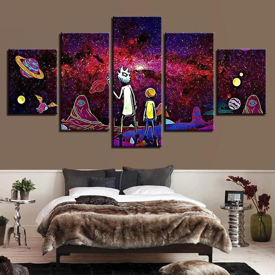 Rick & Morty Wall Art With Frames Canvas