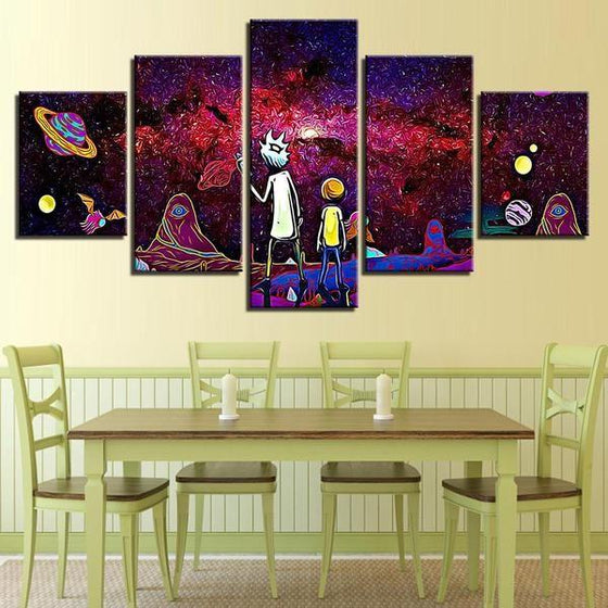 Rick & Morty Wall Art With Frames Canvases