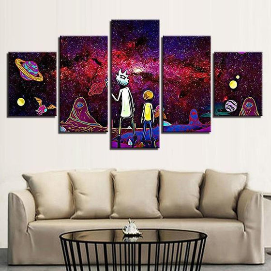 Rick & Morty Wall Art With Frames