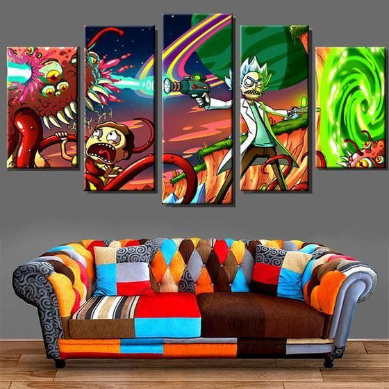 Rick And Morty Canvas Wall Art Idea
