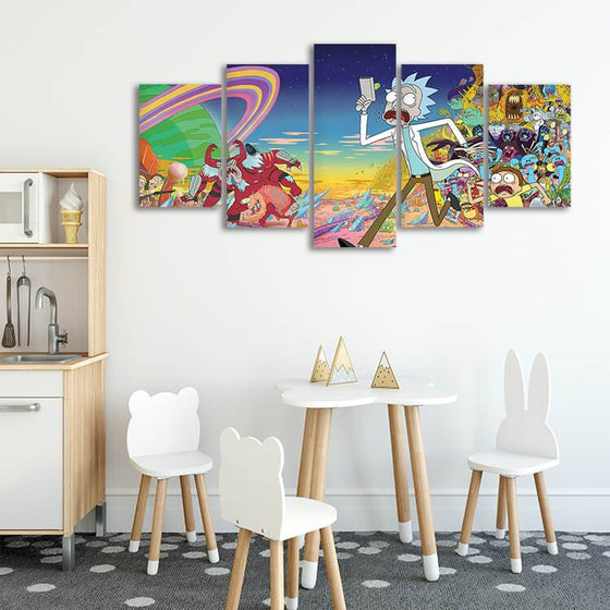 Rick & Morty Wall Art Decors