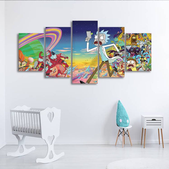 Rick & Morty Wall Art Canvases
