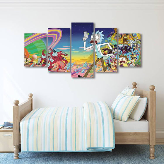 Rick & Morty Wall Art Bedroom