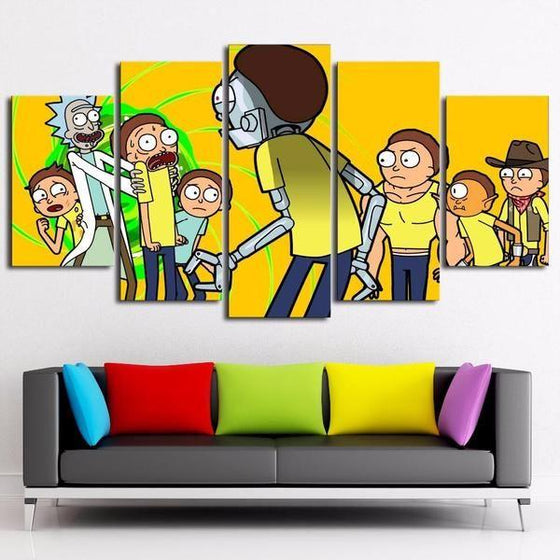Rick And Morty Wall Art Dining Room Canvas