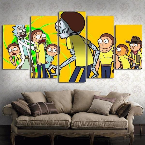 Rick And Morty Wall Art Dining Room Canvases