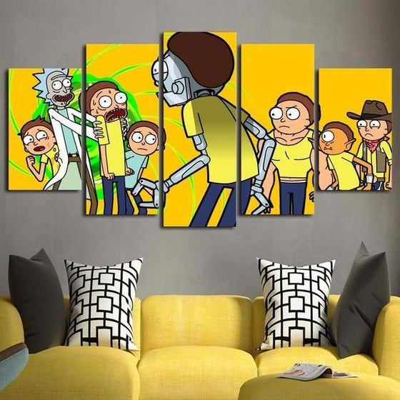 Rick And Morty Wall Art Dining Room Decor