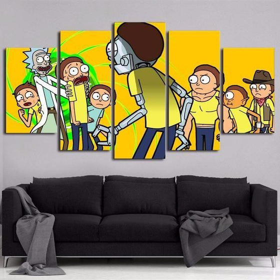 Rick And Morty Wall Art Dining Room Decors