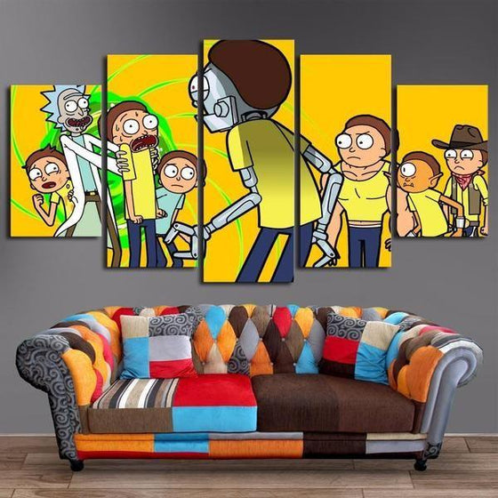 Rick And Morty Wall Art Dining Room