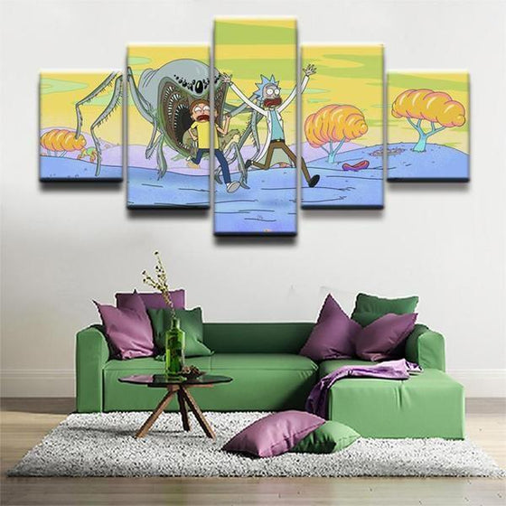 Rick And Morty Wall Art Garden Ideas