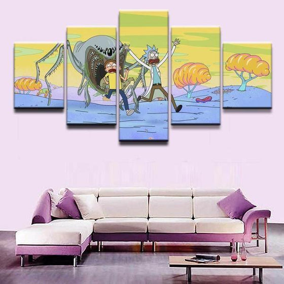 Rick And Morty Wall Art Garden Print