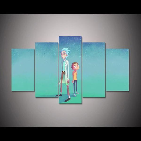 Rick and Morty Inspired Green Space Canvas Wall Art Ideas