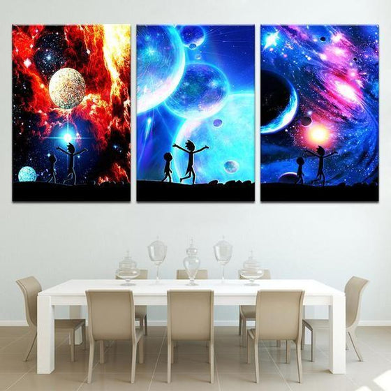 Rick And Morty Wall Art With Frames Canvas