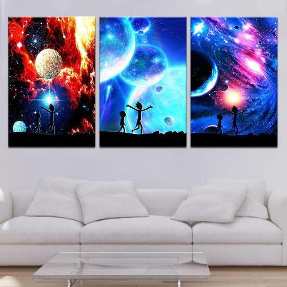 Rick And Morty Wall Art With Frames Canvases