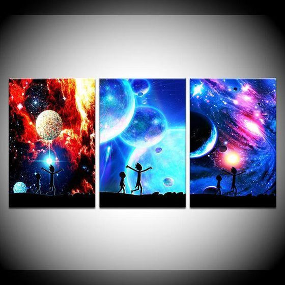 Rick And Morty Wall Art With Frames Decor